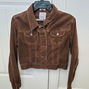 Brown Old Navy Cropped Jacket.